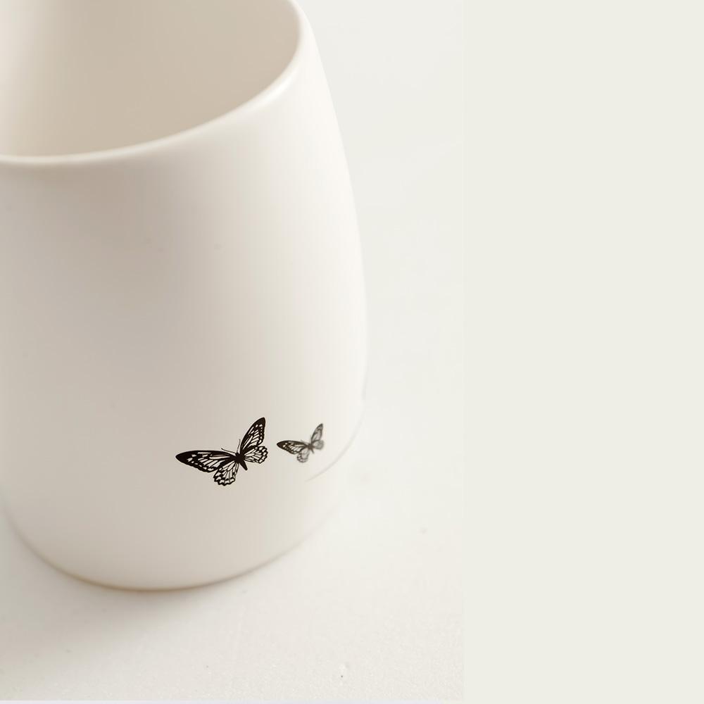 集瓷cocera|剪影彎彎杯(霧白)
