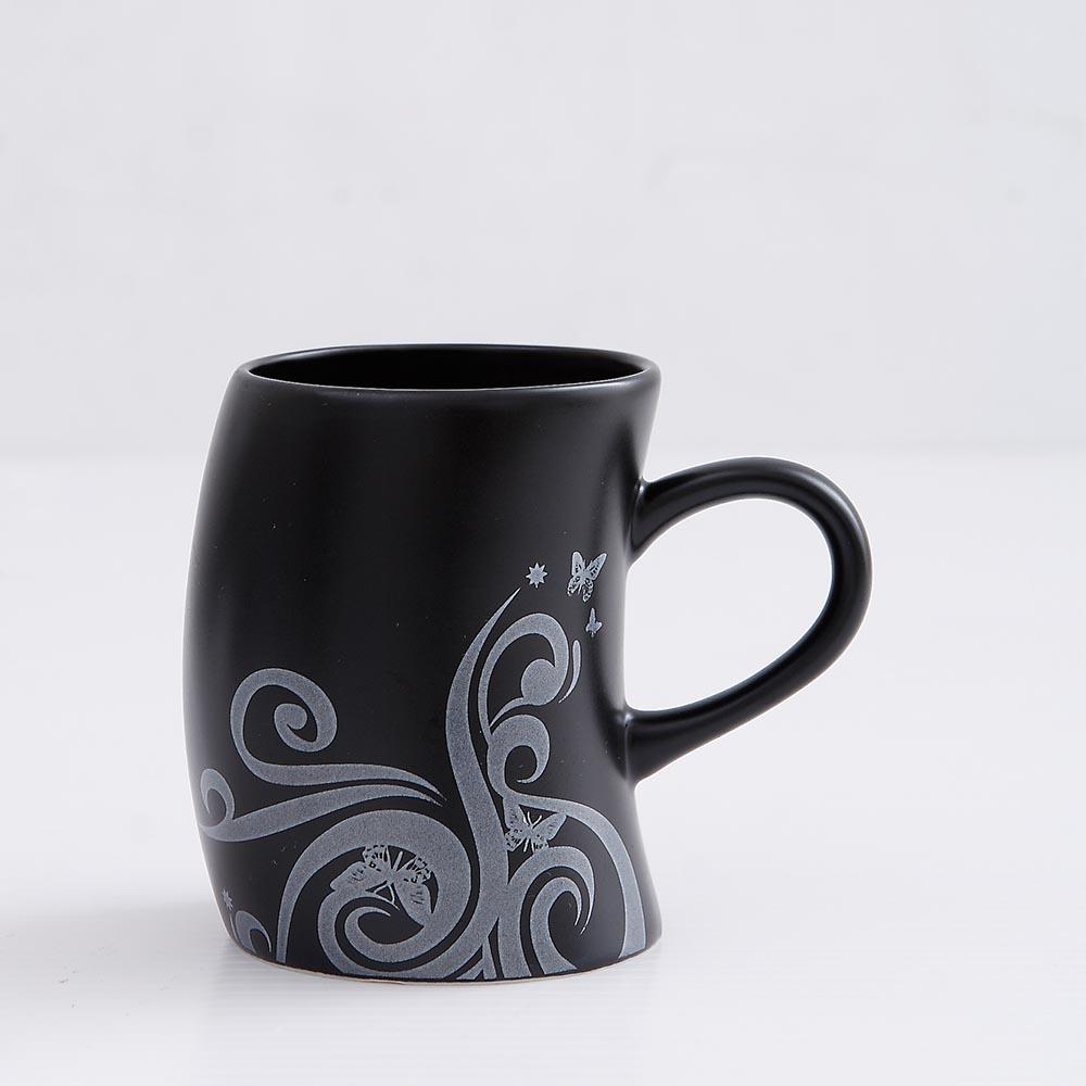 集瓷cocera|剪影彎彎杯(霧黑)
