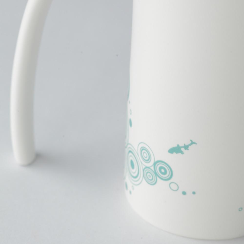 集瓷cocera|夏荷剪影喇叭杯(霧白)