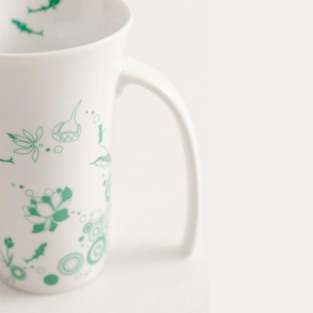 集瓷cocera 夏荷剪影喇叭杯(亮白)