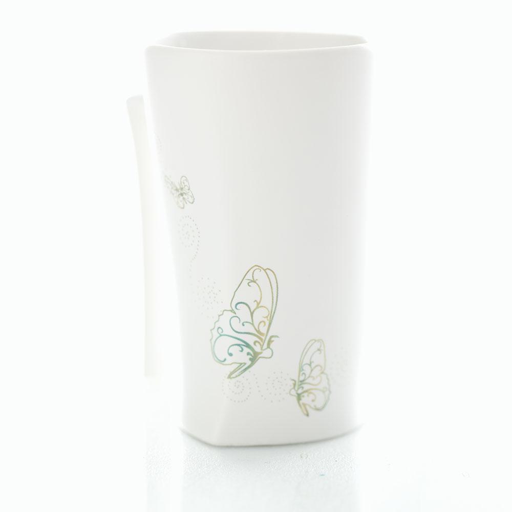 集瓷cocera|斑斕蝶影變色寧靜杯(霧白)