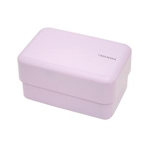 TAKENAKA BENTO BOX 粉彩雙層便當盒(附繩)-薰衣草色