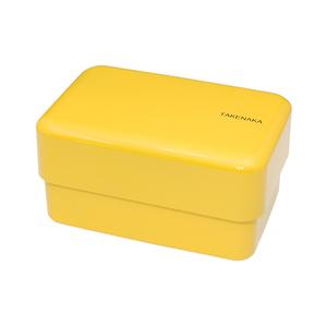TAKENAKA BENTO BOX 粉彩雙層便當盒(附繩)-水仙黃色