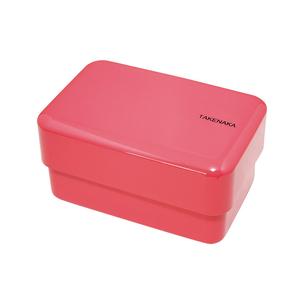 TAKENAKA BENTO BOX|粉彩雙層便當盒(附繩)-玫瑰色