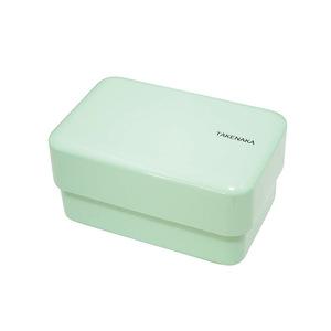 TAKENAKA BENTO BOX 粉彩雙層便當盒(附繩)-薄荷綠色