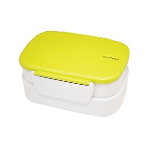 TAKENAKA BENTO BOX 粉彩扣環雙層便當盒-芥綠色