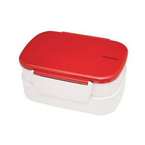 TAKENAKA BENTO BOX 粉彩扣環雙層便當盒-紅色
