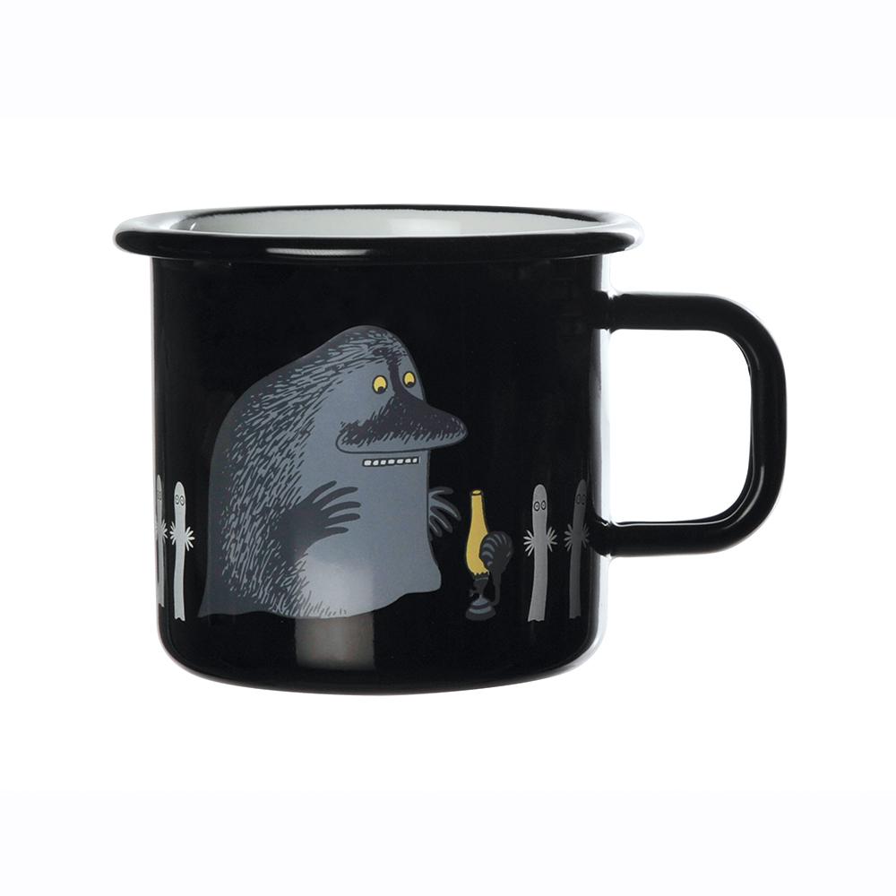 Muurla|嚕嚕米系列 - 哥谷Groke琺瑯馬克杯(黑)370cc
