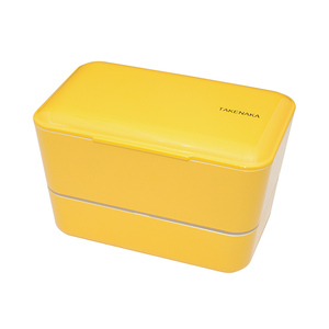 TAKENAKA BENTO BOX 大容量粉彩雙層便當盒(附繩)-水仙色