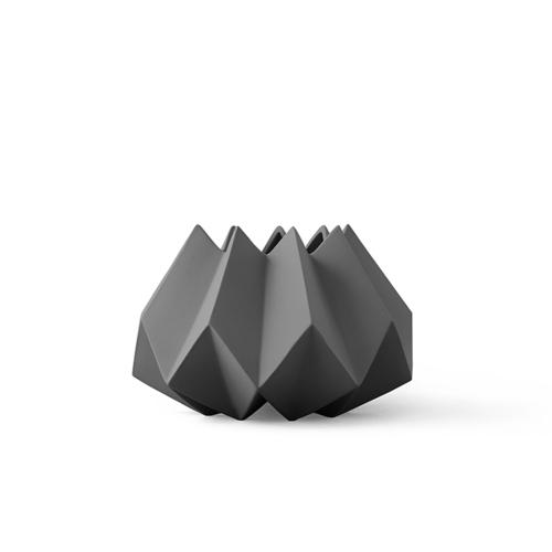 MENU|立體折痕花器(深灰)