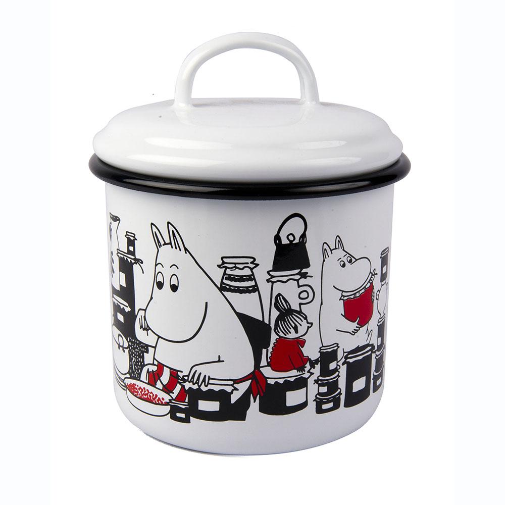 Muurla|嚕嚕米系列 - Moomin琺瑯儲物罐(白)1L