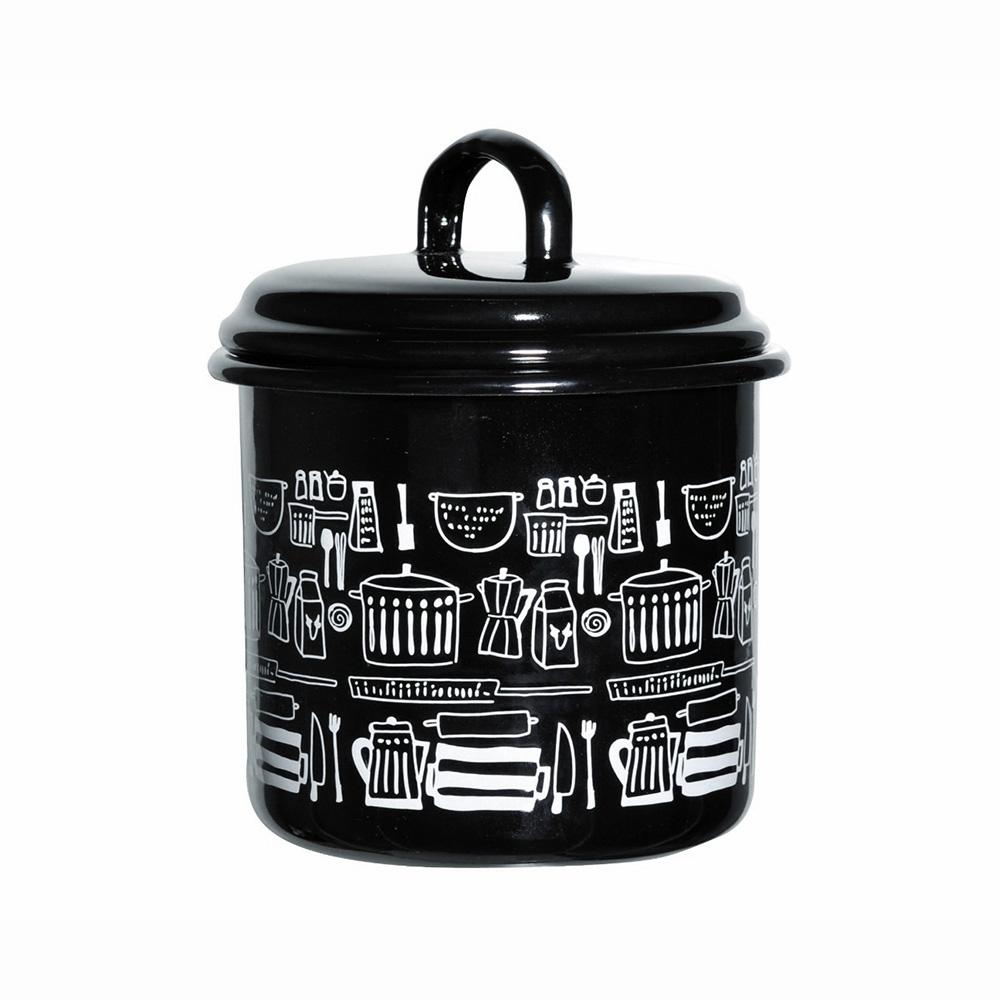 Muurla|廚房插圖系列琺瑯儲物罐1L