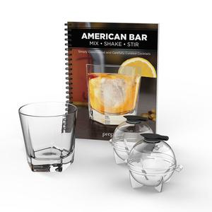 prepara|美式酒吧禮盒四件組(威士忌杯+製冰球)