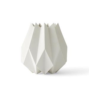 MENU|立體折痕花器─高款(白)