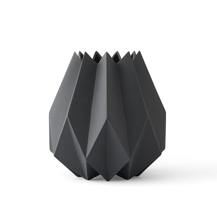 MENU|立體折痕花器─高款(深灰)