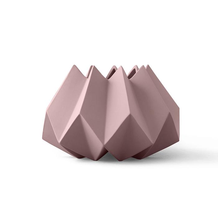 MENU|立體折痕花器(粉)