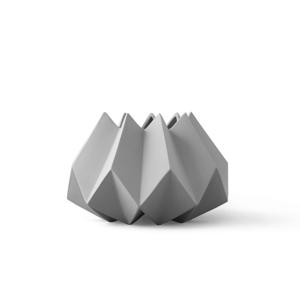 MENU|立體折痕花器(淺灰)