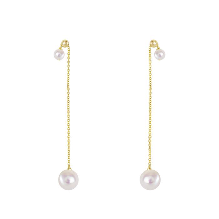 (複製)OLIVIA YAO JEWELLERY|OVAL AXIS 金色光軸珍珠耳環