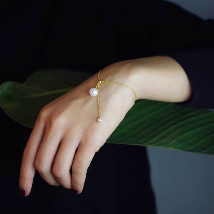 (複製)OLIVIA YAO JEWELLERY|PEARL BELL 14K合金珍珠耳環