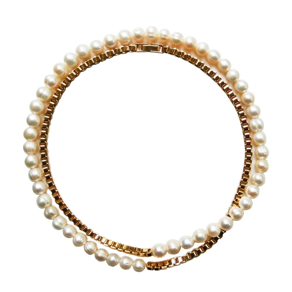 OLIVIA YAO JEWELLERY|PEARL BOX  珍珠黃銅鍍金項鍊