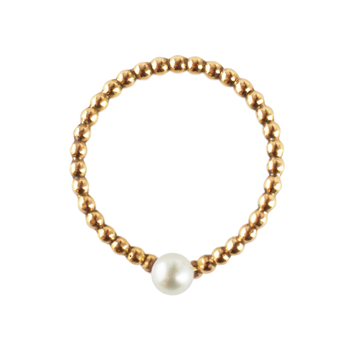 OLIVIA YAO JEWELLERY|WISH BONE PEARL OVATION 14K合金許願骨戒