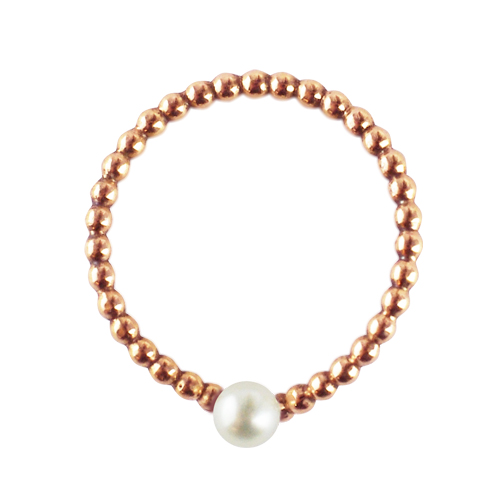 OLIVIA YAO JEWELLERY|WISH BONE PEARL OVATION 14K合金許願骨戒(玫瑰金)