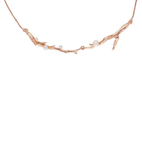 OLIVIA YAO JEWELLERY ROUGE LAURIER 14K玫瑰合金桂冠項鍊