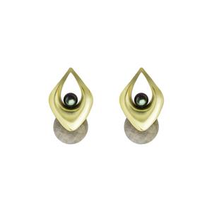 OLIVIA YAO JEWELLERY|VAYU LABRA 拉長石黃銅鍍金耳環