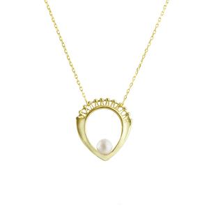 OLIVIA YAO JEWELLERY|AEON GOLD NECKLACE 黃銅鍍金珍珠項鍊