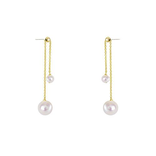 OLIVIA YAO JEWELLERY|PEARL BELL 14K合金珍珠耳環