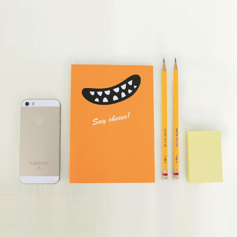 Smile|Say Cheese 筆記本(經典橘)