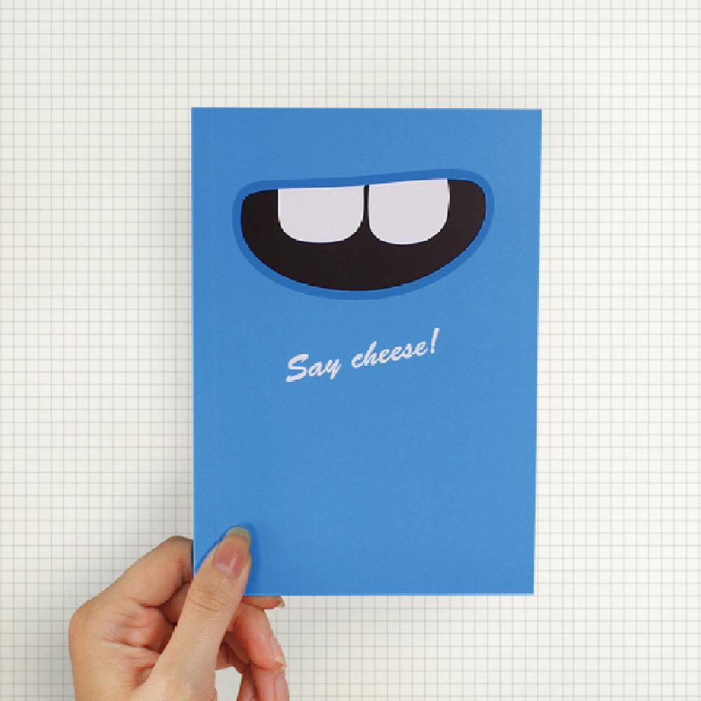 Smile|Say Cheese 筆記本(天空藍)
