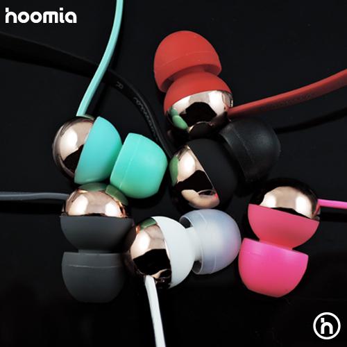 hoomia C8G玫瑰金屬魔球入耳式立體聲耳機 (優雅紅)