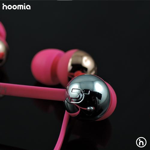 hoomia C8S金屬魔球入耳式立體聲耳機 (鮮豔桃)