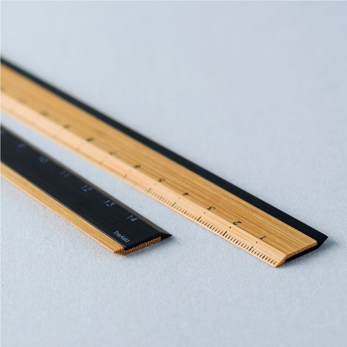 TreAsia︱Bamboo Ruler 竹鋁雙用尺(黑)