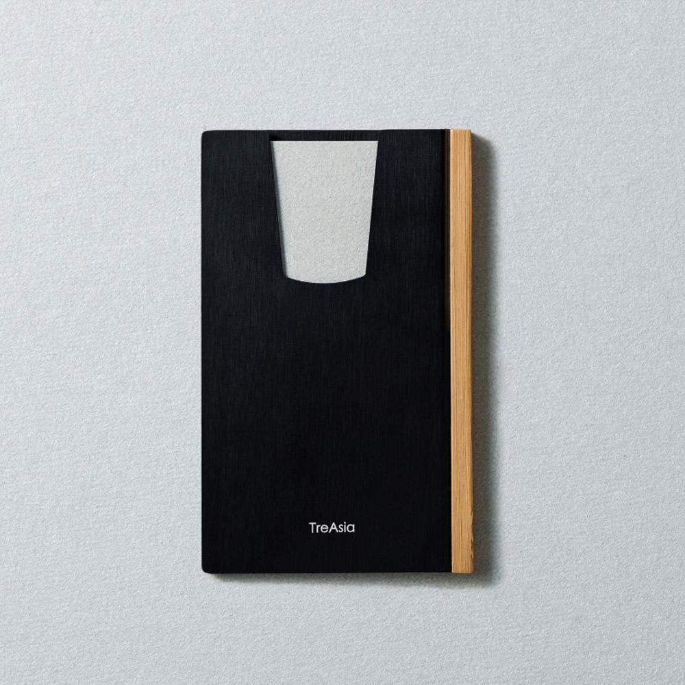 TreAsia︱SLIDE LIGHT︱Card Hode_燻竹名片夾_(黑)