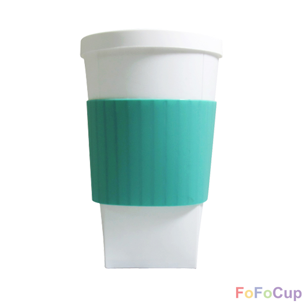 FOFOCUP折折杯|台灣創意杯身可折16oz 折折杯-綠色