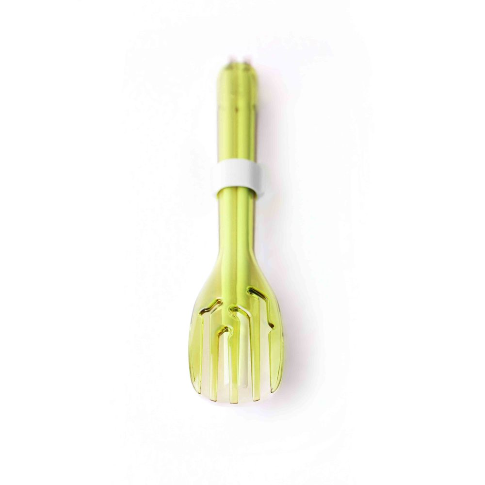 dipper 3合1SPS環保餐具筷叉匙組-青嫩綠叉