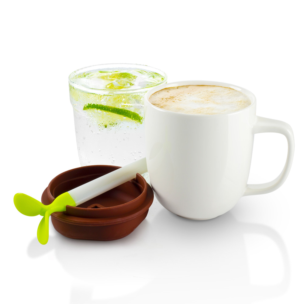 dipper|1+1 綠芽雙杯組(咖啡蓋/白杯)