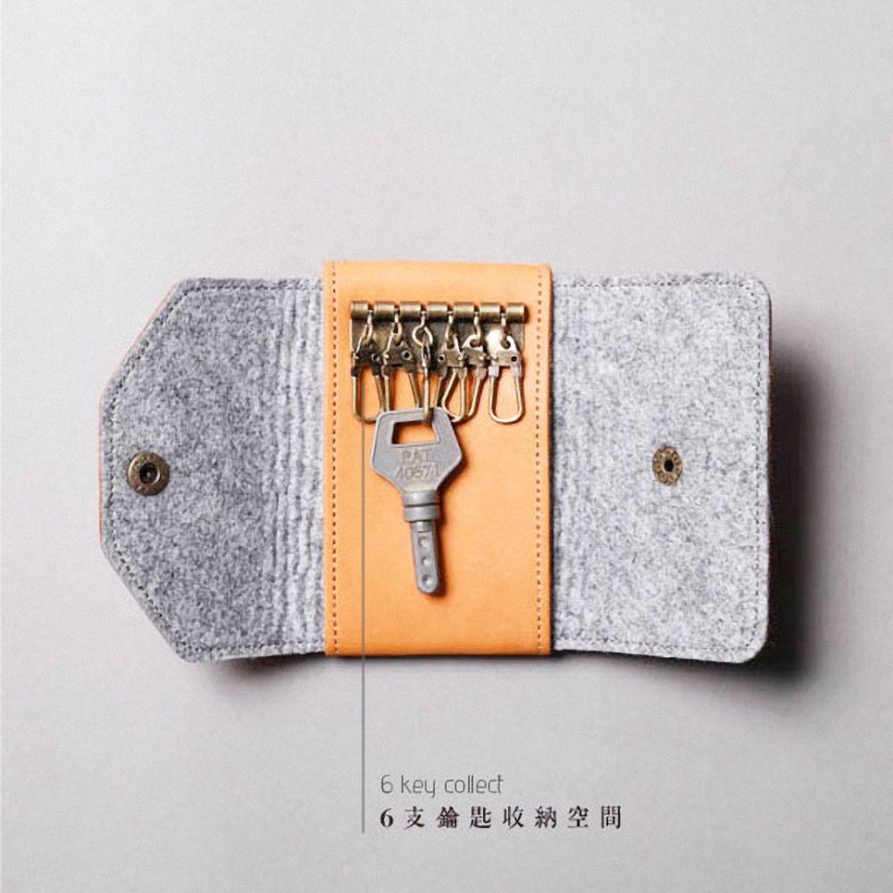 icleaXbag|真皮鑰匙卡片兩用包