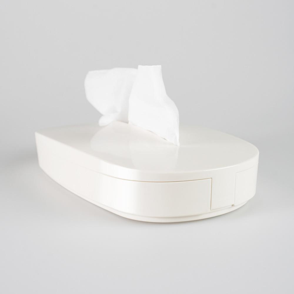 GeckoDesign|伸縮面紙盒(香草白)
