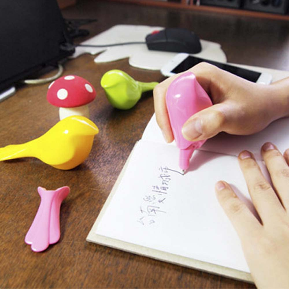 GeckoDesign|可愛動物造型原子筆(草莓粉紅色)