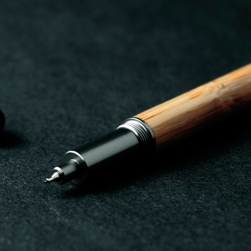 ISHUJA|now&then ECO竹系列-書寫觸控兩用筆-中性筆組(黑色)