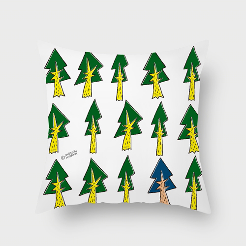 UMade|藝術家創作抱枕-不一樣的樹 / Makoto Hidaka (40x40cm)