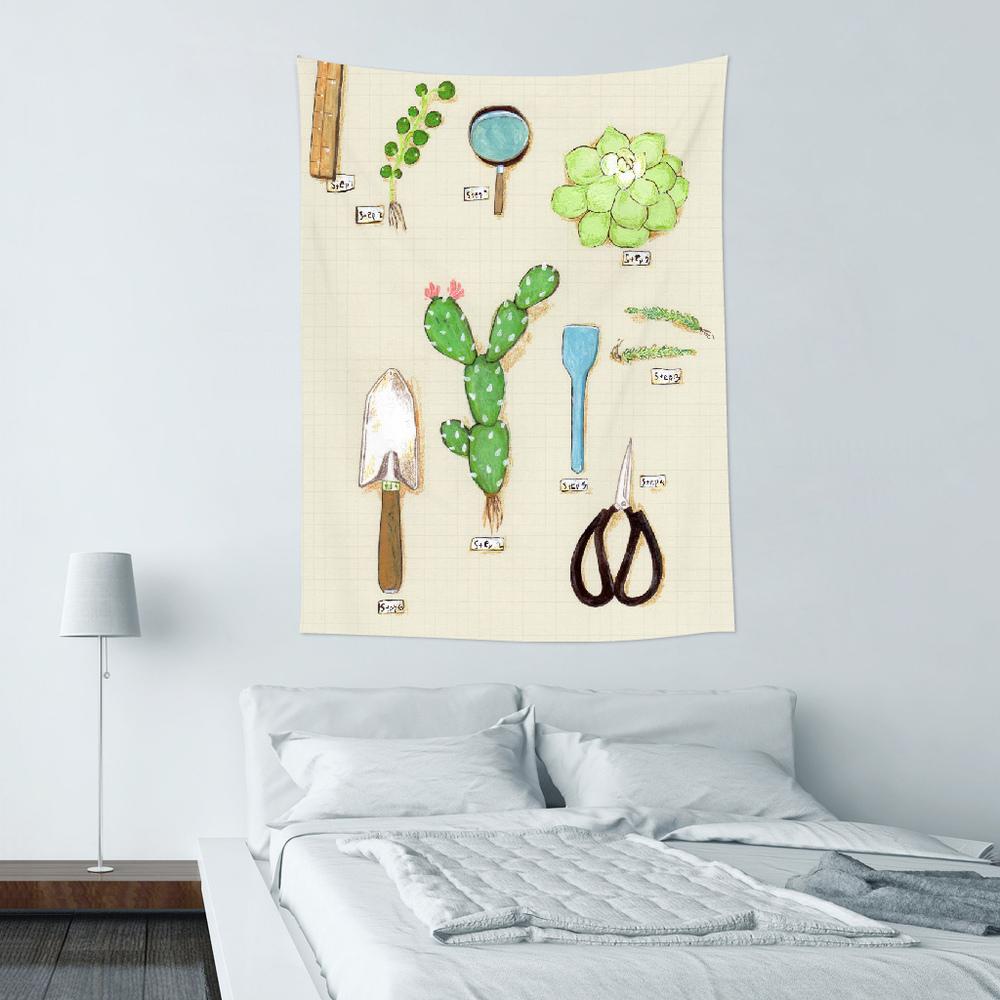 UMade|藝術家創作壁幔 - 用多肉植物造一個自己的陽臺B- 裴小馬Pony Pei (150x112cm)