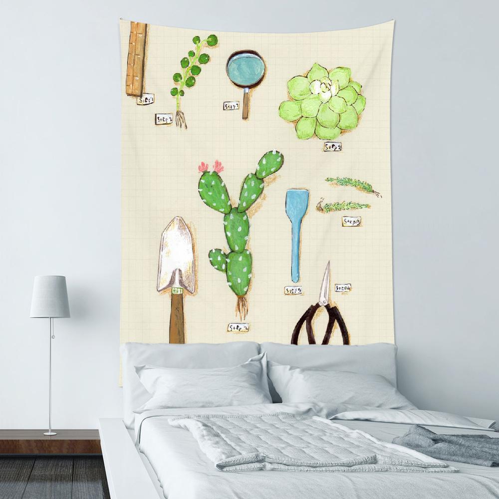 UMade|藝術家創作壁幔 - 用多肉植物造一個自己的陽臺B- 裴小馬Pony Pei (200x150cm)