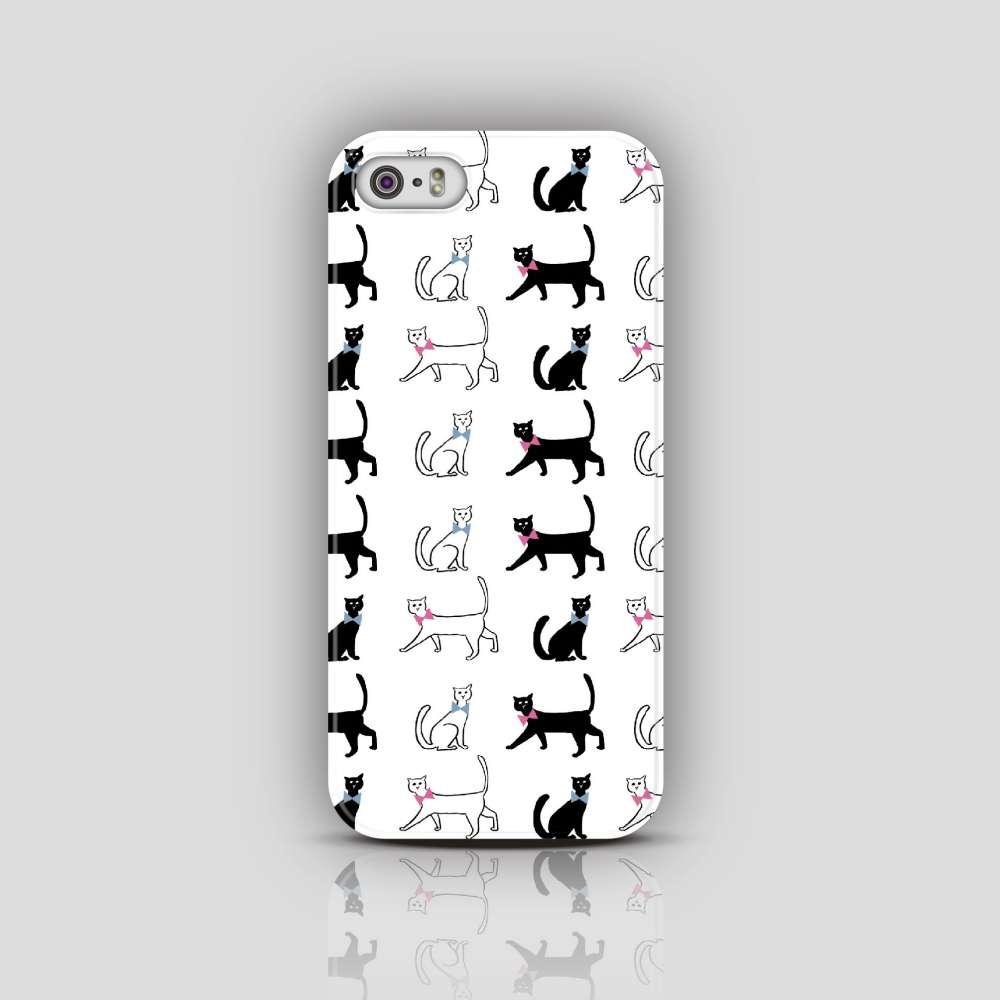 UMade|藝術家創作iPhone手機殼 Samsung HTC手機殼-黑貓白貓都是好貓咪- Naho