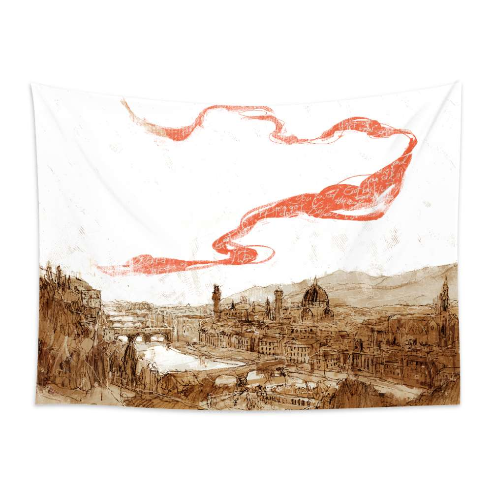 UMade|藝術家創作壁幔 -翡冷翠之歌 - 劉宜其 61Chi (200x150cm)