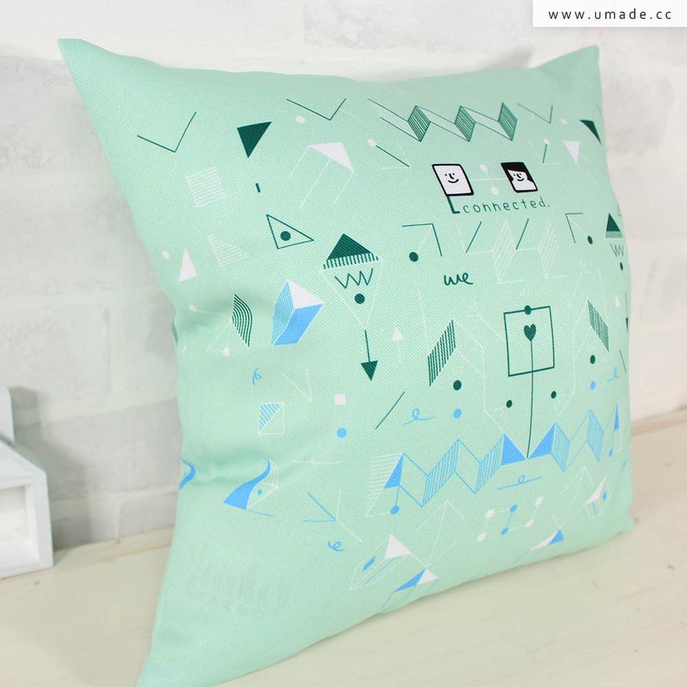UMade|藝術家創作抱枕-我們,連結 / Fiona Chien (48x48cm)