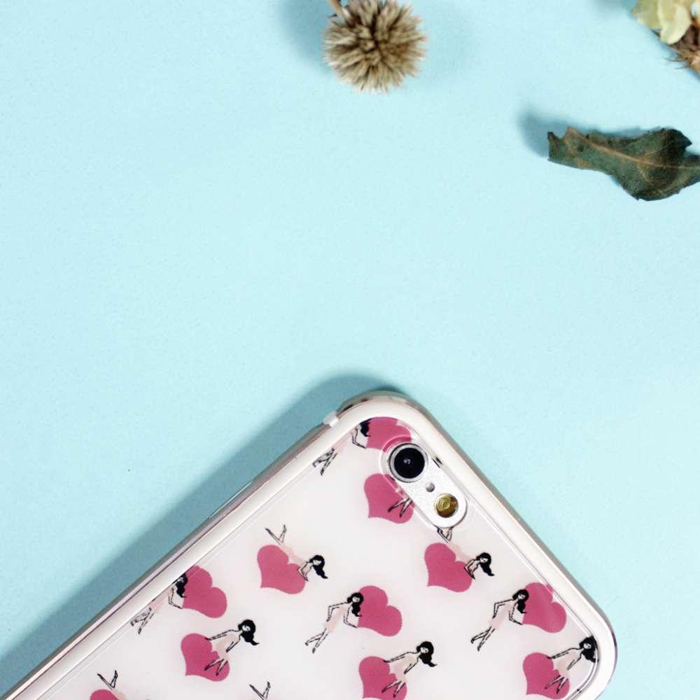 UMade|藝術家創作iPhone手機殼 - Pretty Girl's Sweet heart- Naho Ogawa